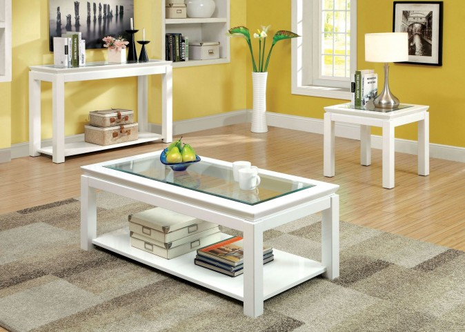 Venta White Occasional Table Set
