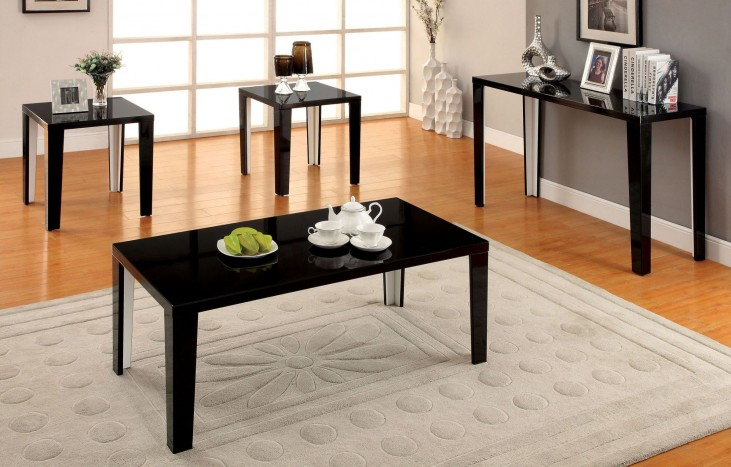 Leela Black 3 Piece Occasional Table Set