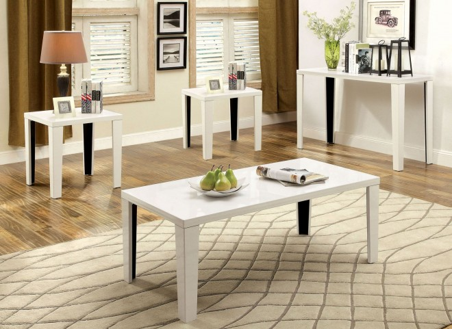 Leela White 3 Piece Occasional Table Set