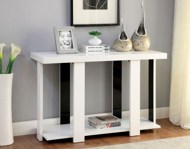 Lakoti I White Sofa Table