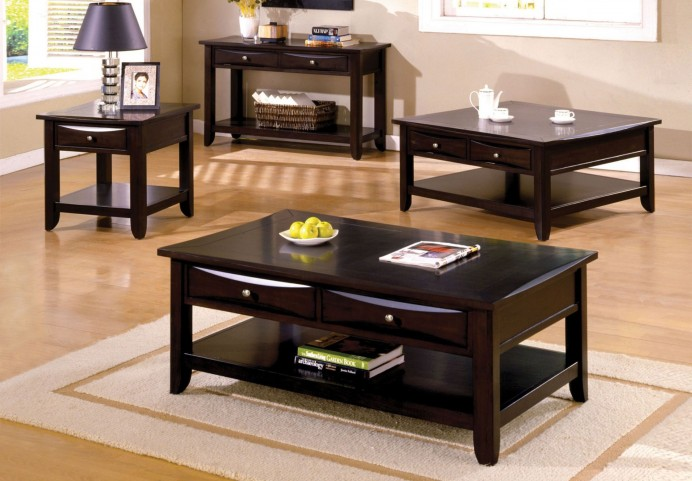 Baldwin Espresso Rectangular Occasional Table Set