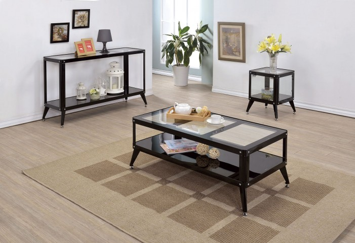 Vibber Black Occasional Table Set