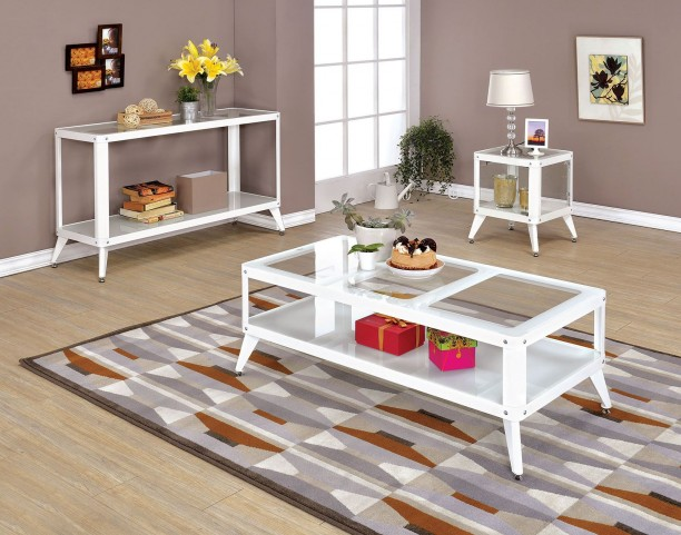 Vibber White Occasional Table Set
