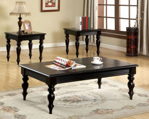 Lester Black 3 Piece Occasional Table Set