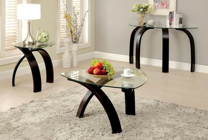 Nieve Dark Walnut Occasional Table Set