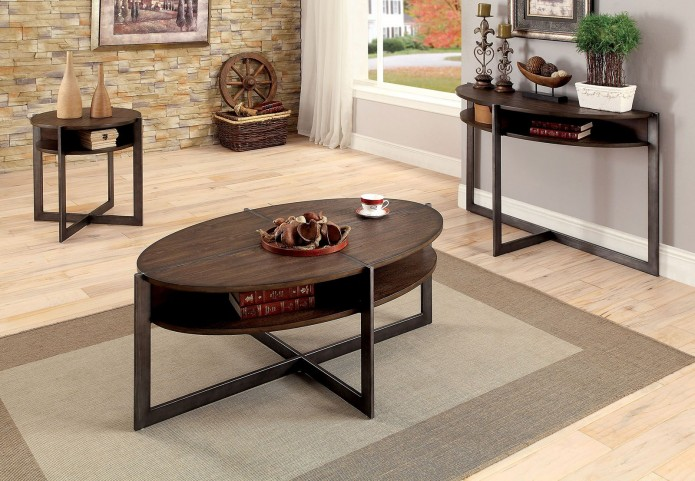 Matilda Dark Oak Occasional Table Set