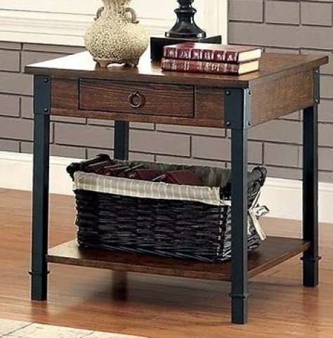 Paige Medium Weathered Oak End Table