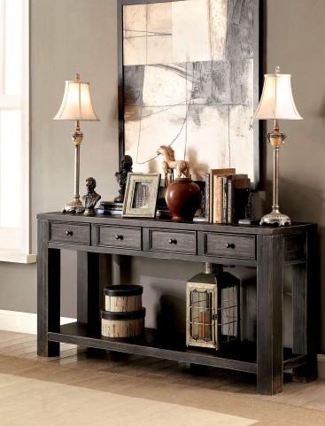 Meadow Antique Black Sofa Table