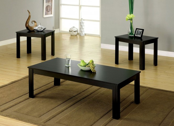 Bay Black Square 3 Piece Occasional Table Set