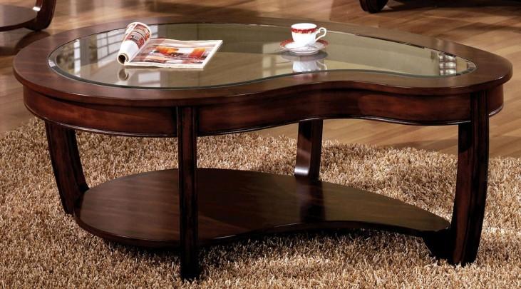 Crystal Falls Dark Cherry Coffee Table