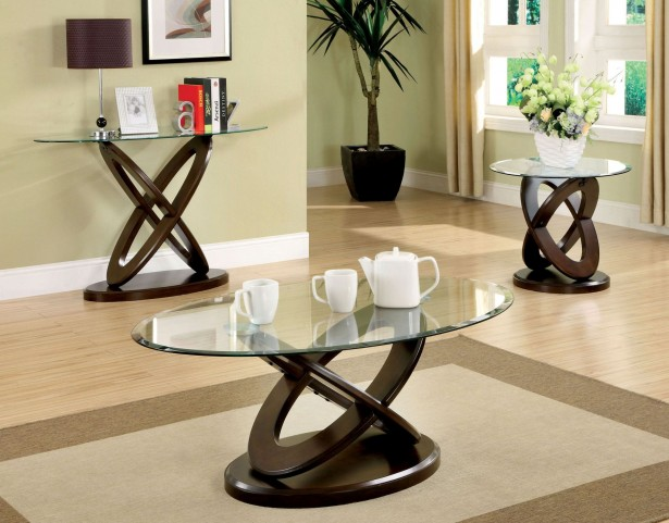 Atwood II Dark Walnut Occasional Table Set