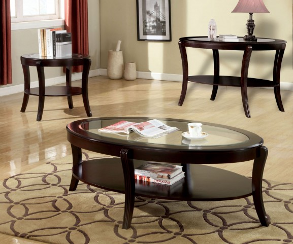 Finley Espresso Occasional Table Set
