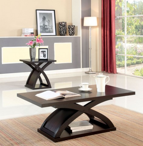 Arkley Espresso Rectangular Occasional Table Set