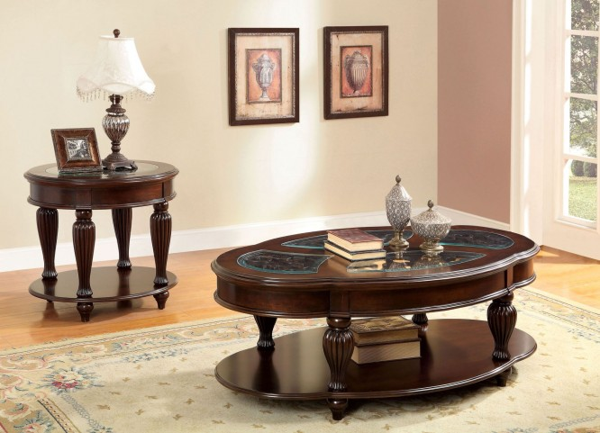 Centinel Dark Cherry Occasional Table Set