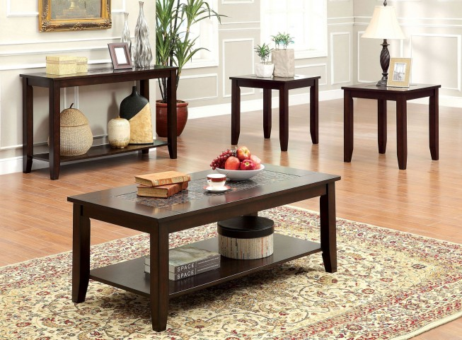 Townsend III Mosaic Insert 3 Piece Occasional Table Set