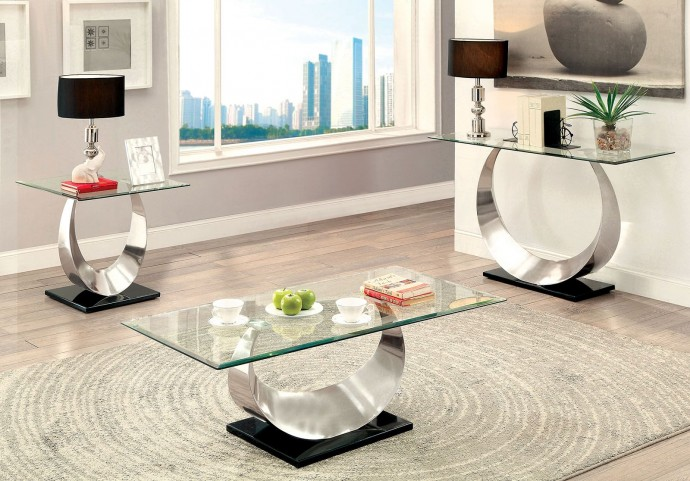 Orla II Silver and Black Occasional Table Set