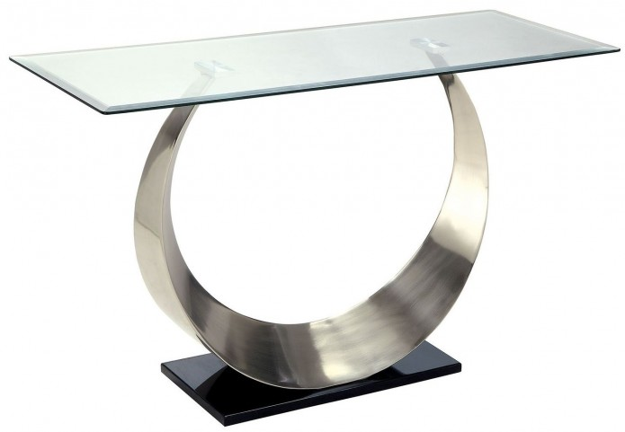 Orla II Silver and Black Sofa Table