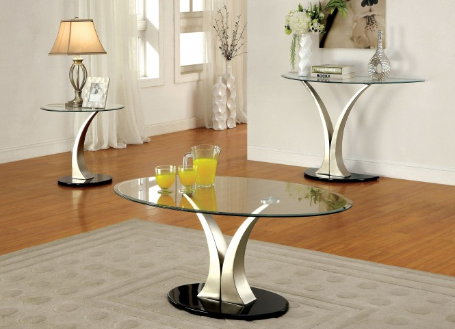 Valo Satin Plated Occasional Table Set