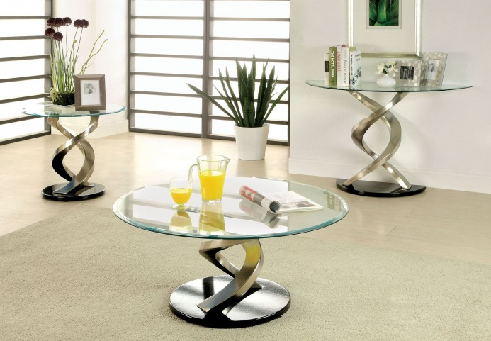 Nova Satin Plated Occasional Table Set