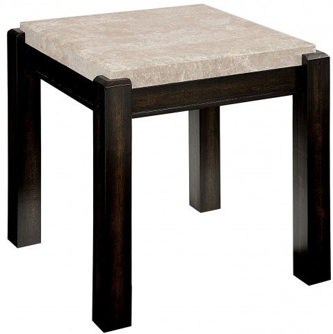 Gladstone Ivory Marble Top End Table