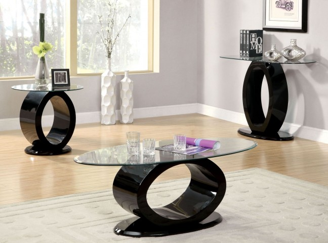 Lodia III Black Occasional Table Set