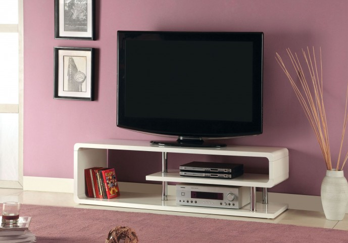 "Ninove II White High Gloss 55"" TV Console"