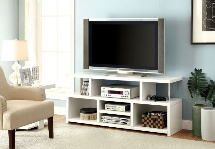 "Evere 60"" White TV Console"