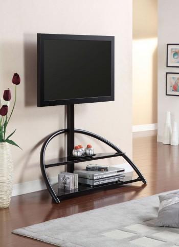 "Fitz Black 48"" Glass Top TV Console"
