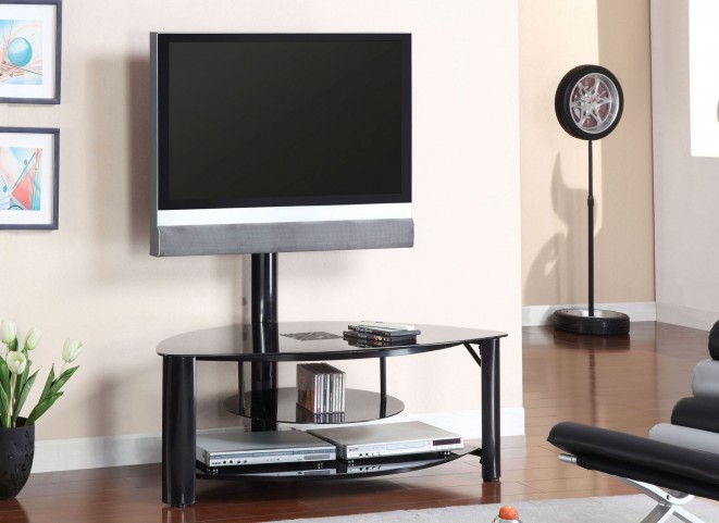 "Fendy 50"" Black Glass Top TV Console"