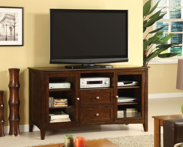 "Lancaster Dark Walnut 60"" TV Console"