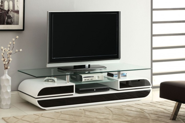"Evos 63"" Glass Top TV Console"