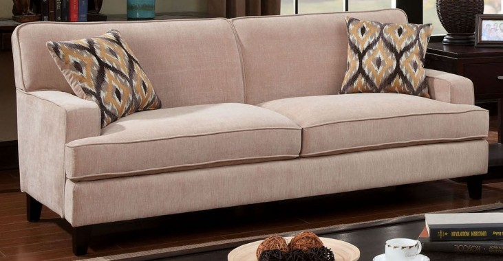 Francis Ivory Fabric Sofa