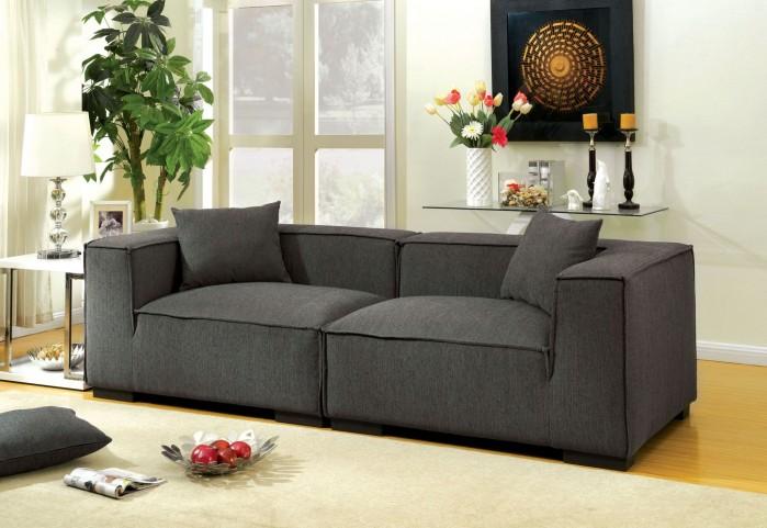 Langdon Gray Fabric Modular Sofa