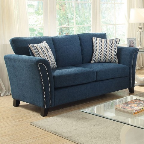 Campbell Dark Teal Loveseat