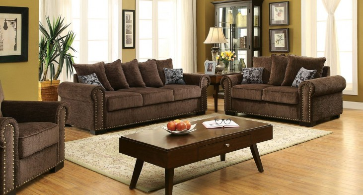 Rydel Brown Living Room Set