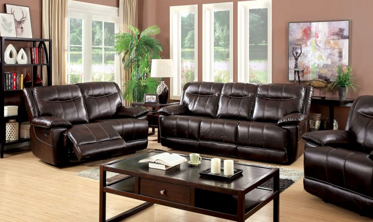 Dolton Brown Power Reclining Living Room Set