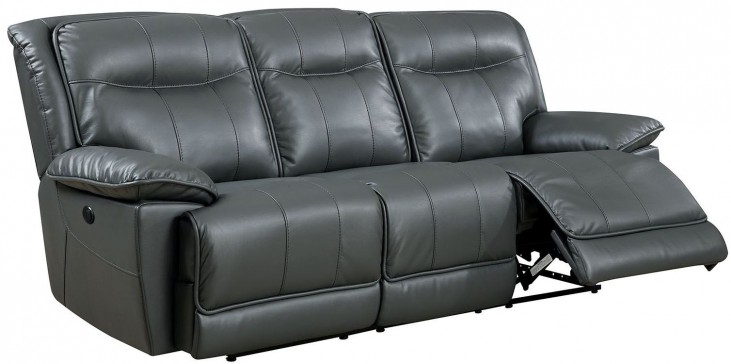 Dolton Gray Power Reclining Sofa