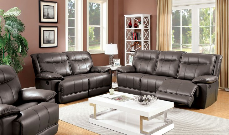 Dolton Gray Power Reclining Living Room Set
