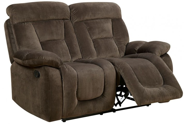 Bloomington Brown Reclining Loveseat