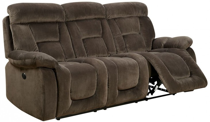 Bloomington Brown Power Reclining Sofa