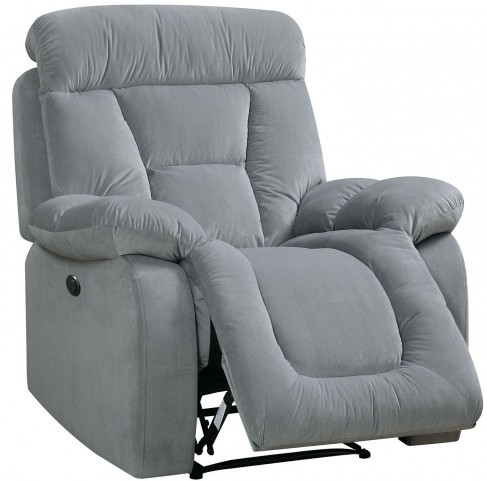 Bloomington Gray Power Reclining Chair
