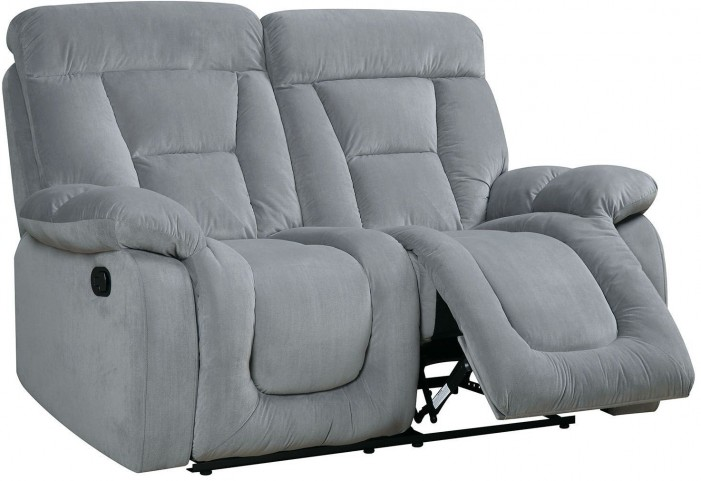 Bloomington Gray Reclining Loveseat