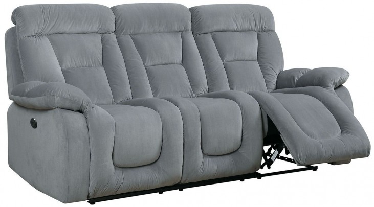 Bloomington Gray Power Reclining Sofa