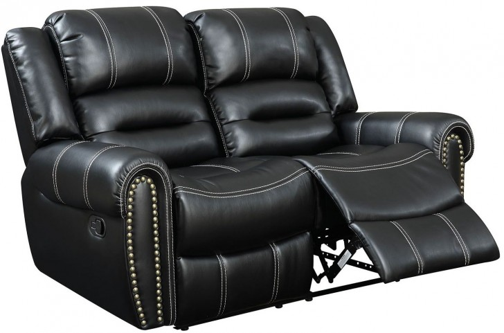 Frederick Black Reclining Loveseat