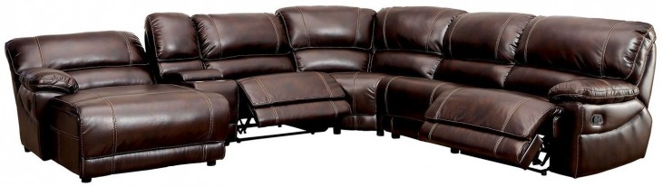 Estrella Brown Reclining Sectional