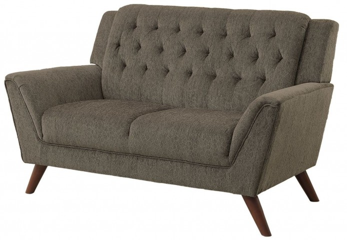Leia II Gray Loveseat