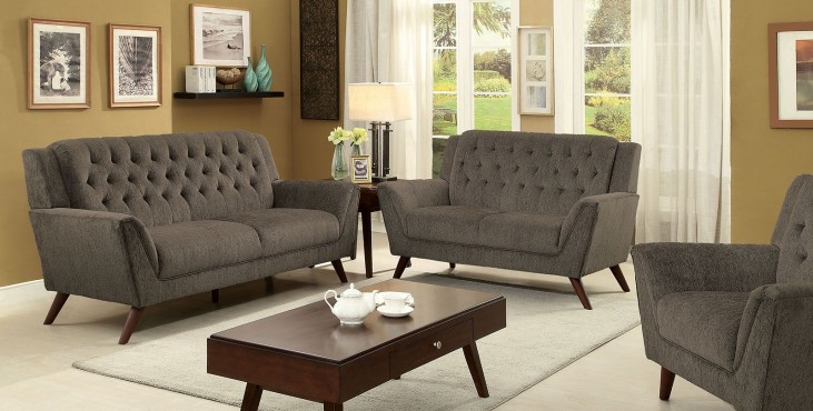 Leia II Gray Living Room Set