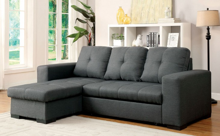 Denton Gray Fabric Sectional