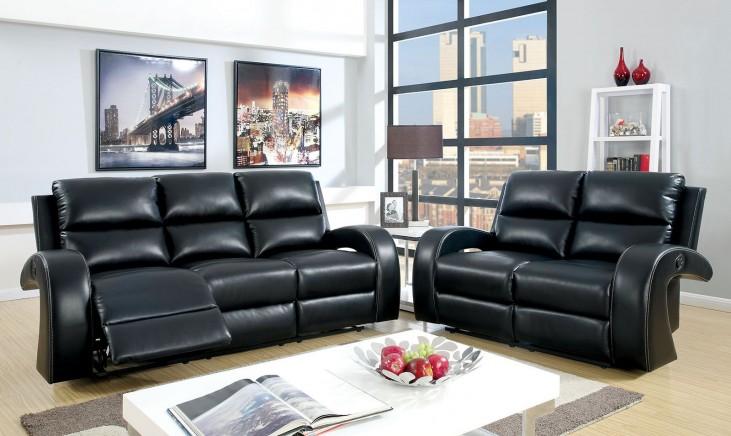 Odette Black Living Room Set