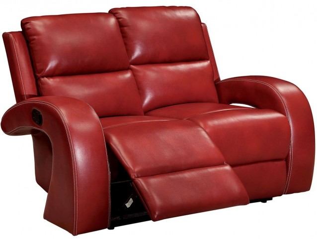 Odette Red Loveseat